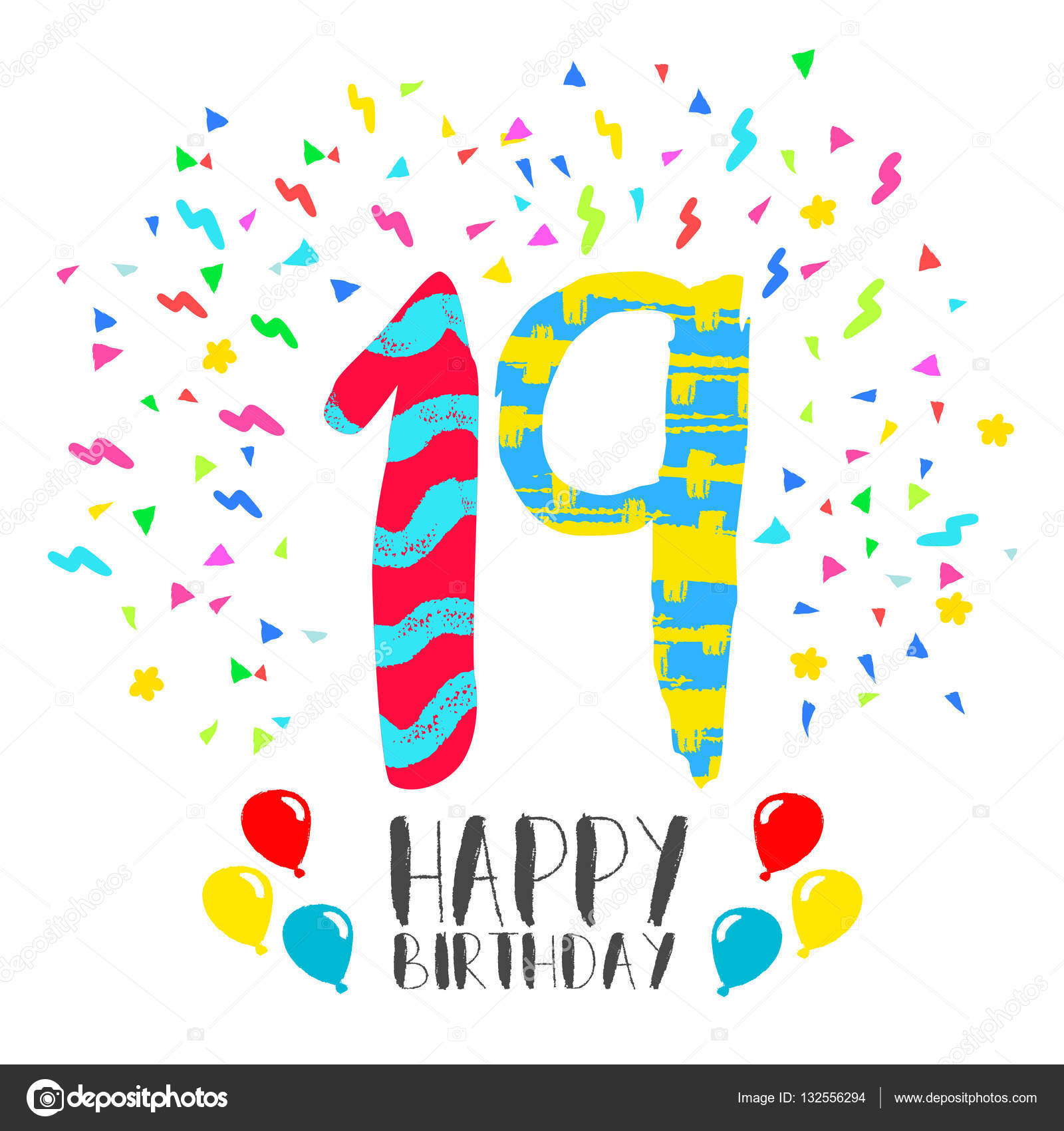 19 Afl Teams Round 19 Dogum Gunu 19 Yas Pictures Free  : depositphotos132556294 stock illustration happy birthday for 19 year from favorsngifts.com size 1600 x 1700 jpeg 233kB