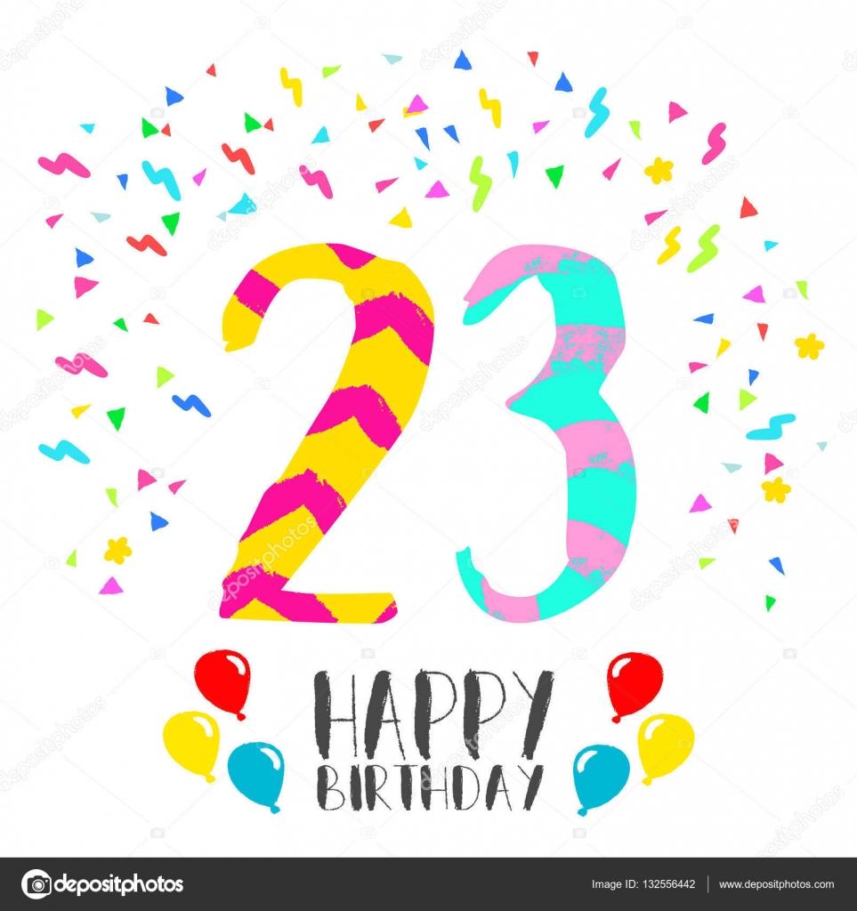 Tarjetas De Cumpleaños Para Jovenes De 23 Años Feliz