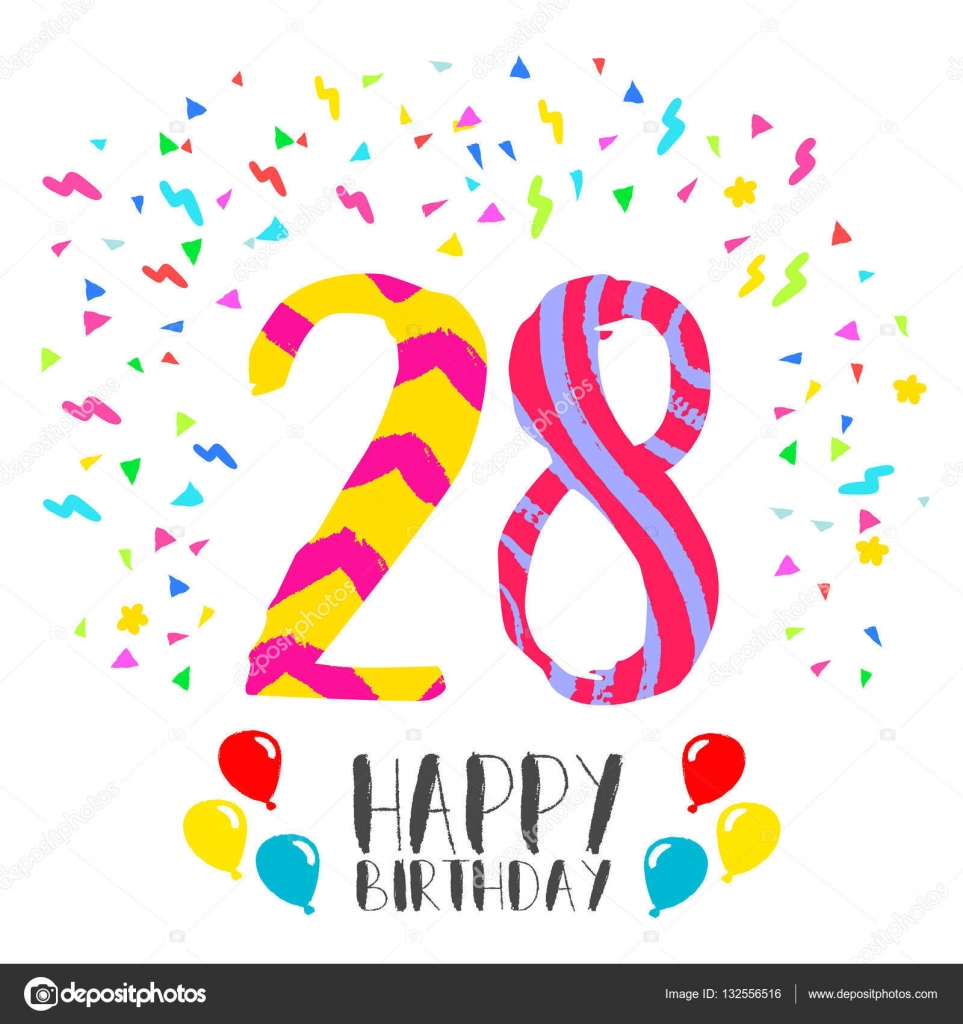 Invitaciones De Cumpleaños 28 Años Feliz Cumpleaños Para