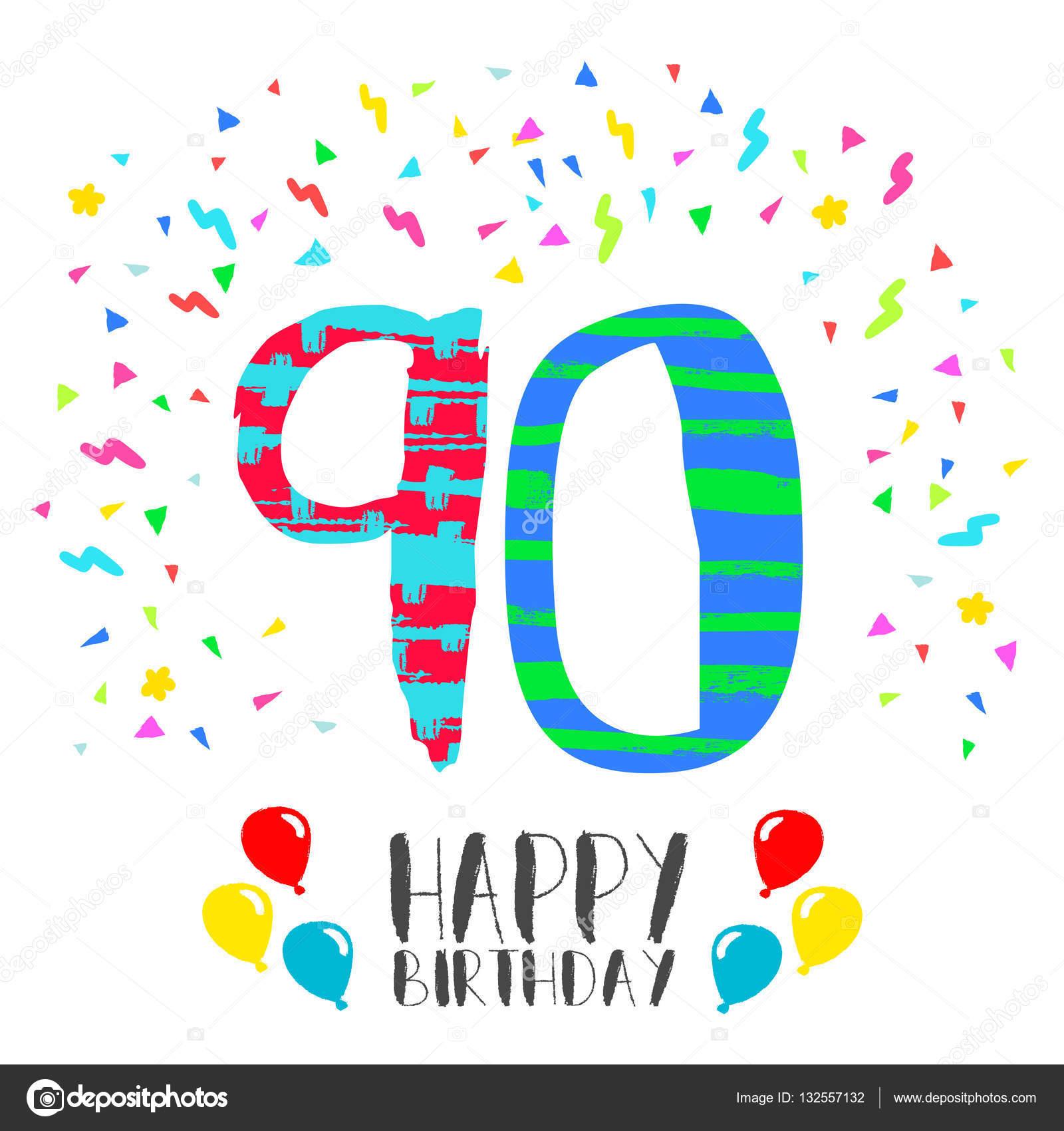 Feliz Cumpleaños Para La Tarjeta De Invitación De La Fiesta