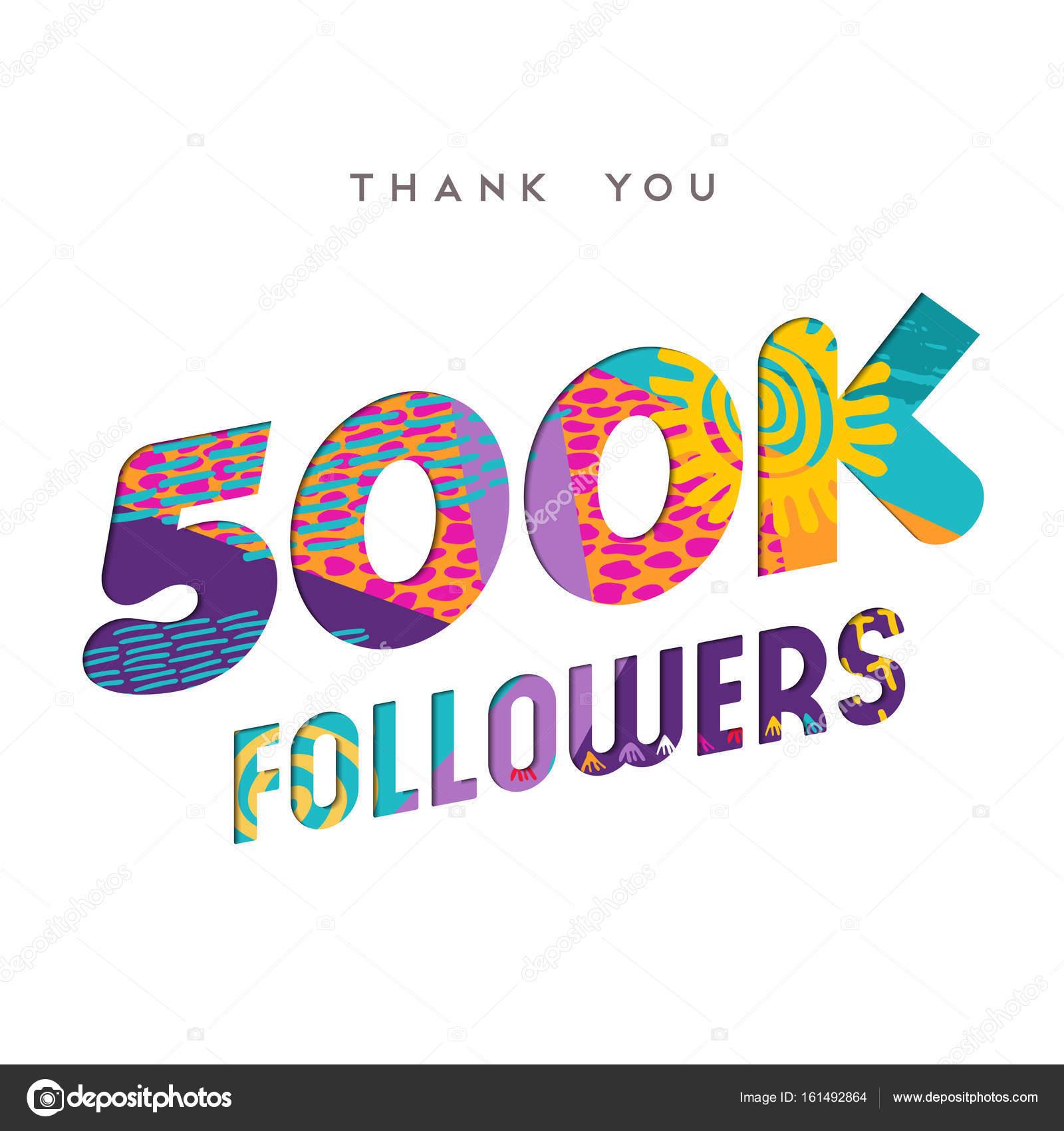 500000 Internet Anhänger danke Vorlage — Stockvektor © cienpies ...