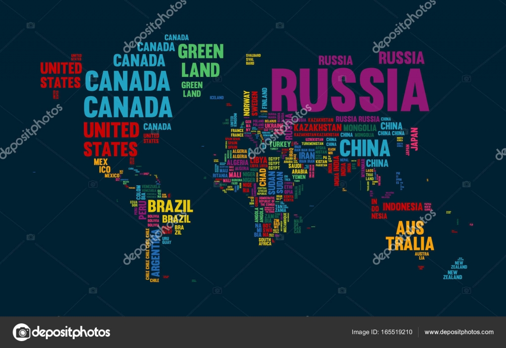 Text world map country name typography design stock vector text world map country name typography design stock vector gumiabroncs Choice Image