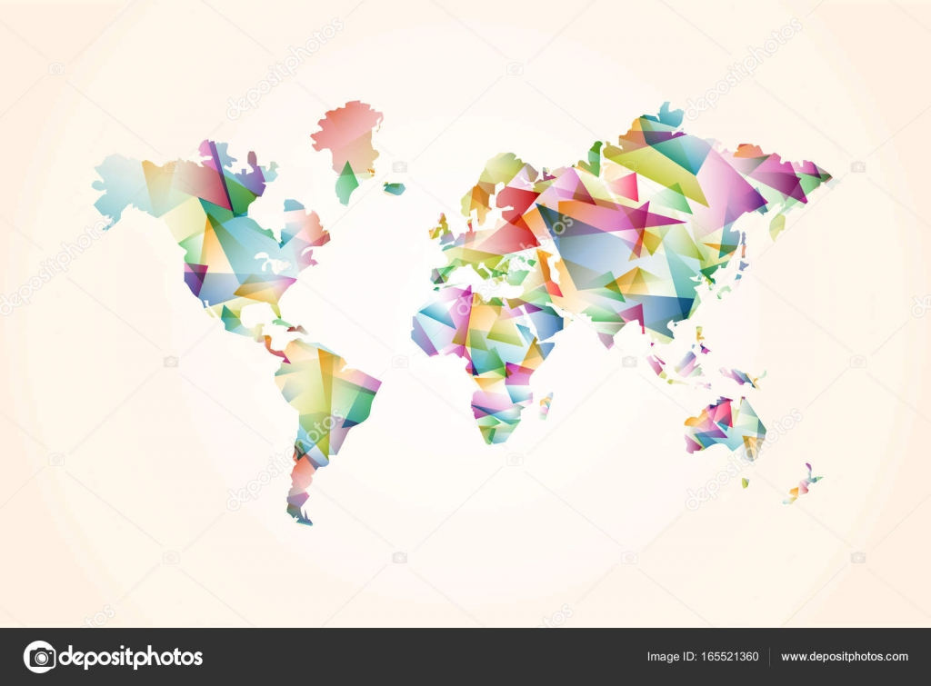 Abstract triangle world map concept illustration stock vector abstract triangle world map concept illustration stock vector gumiabroncs Image collections