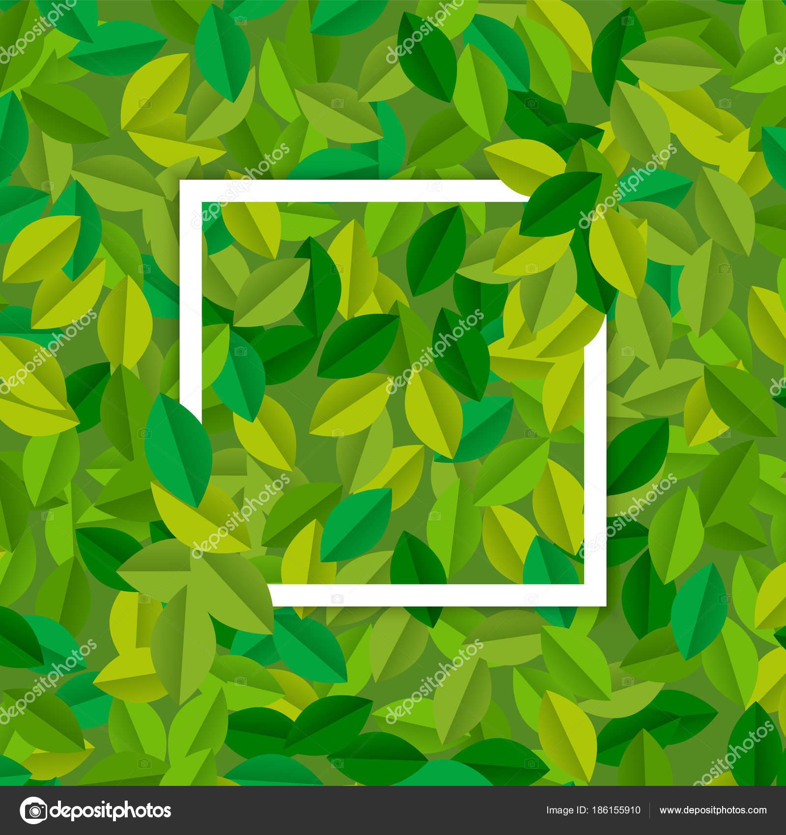 Leere Zeichen Vorlage mit grüner Baum Blätter — Stockvektor ...