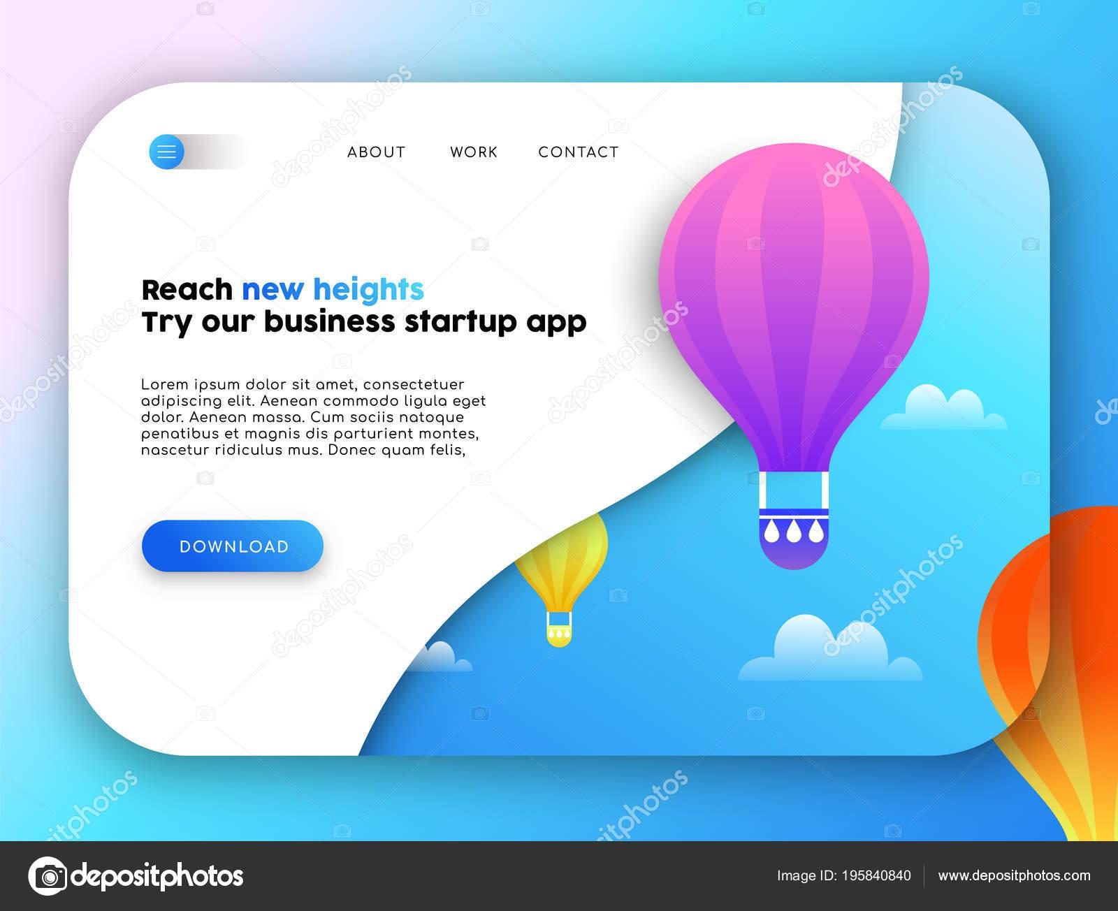 Plantilla Página Aterrizaje Negocios Web Marketing Online Diseño Con ...