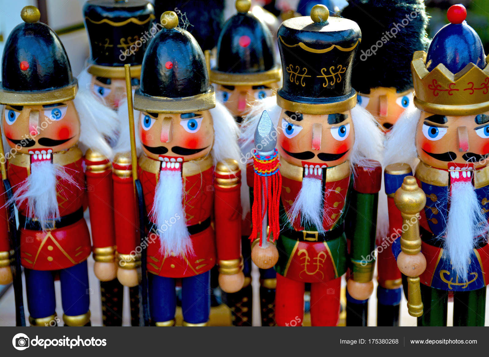 Colorful christmas nutcrackers — Stock Photo © montana #175380268