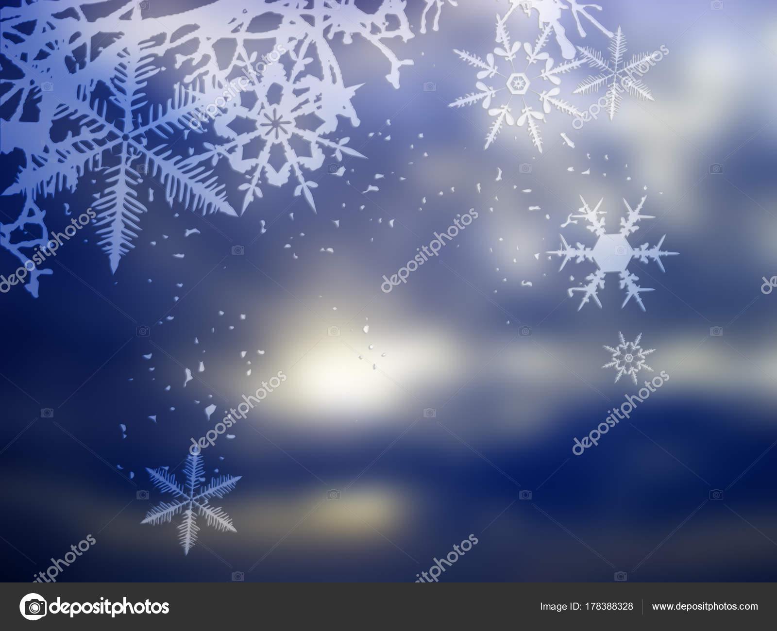 冬背景 雪の結晶のイラスト — ストック写真 © lakalla #178388328