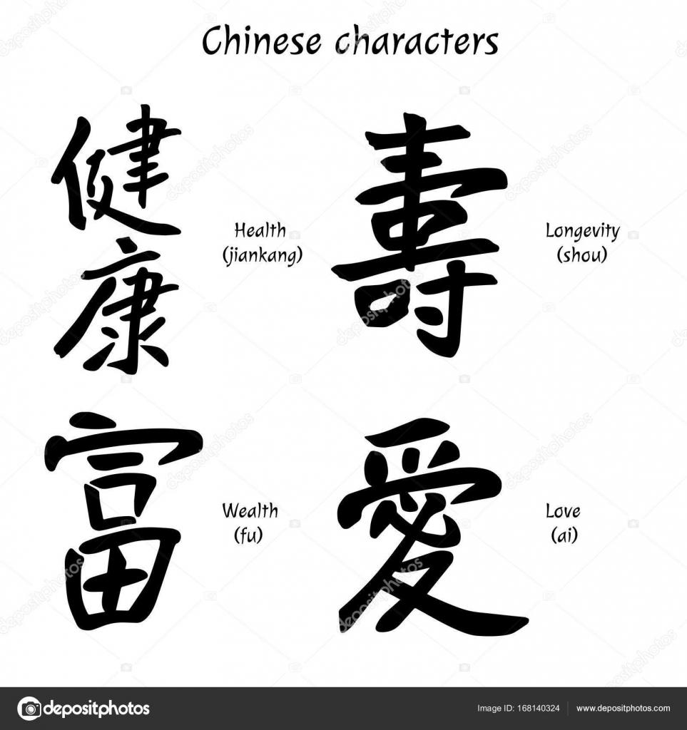 Chinese characters health wealth longevity love vector chinese characters health wealth longevity love vector illustration vector by verpeya buycottarizona