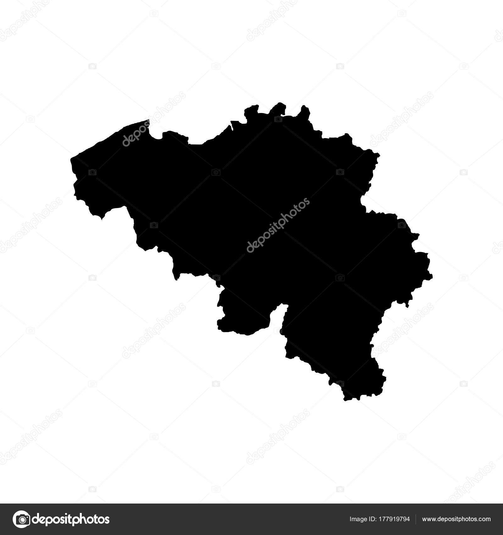 Carte Belgique Eps.Carte Vecteur Belgique Isoles Vector Illustration Noir Sur