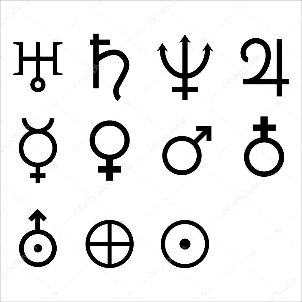 Zodiac And Astrology Symbols Of The Planets Vector Illustration Premium Vector In Adobe Illustrator Ai Ai Format Encapsulated Postscript Eps Eps Format