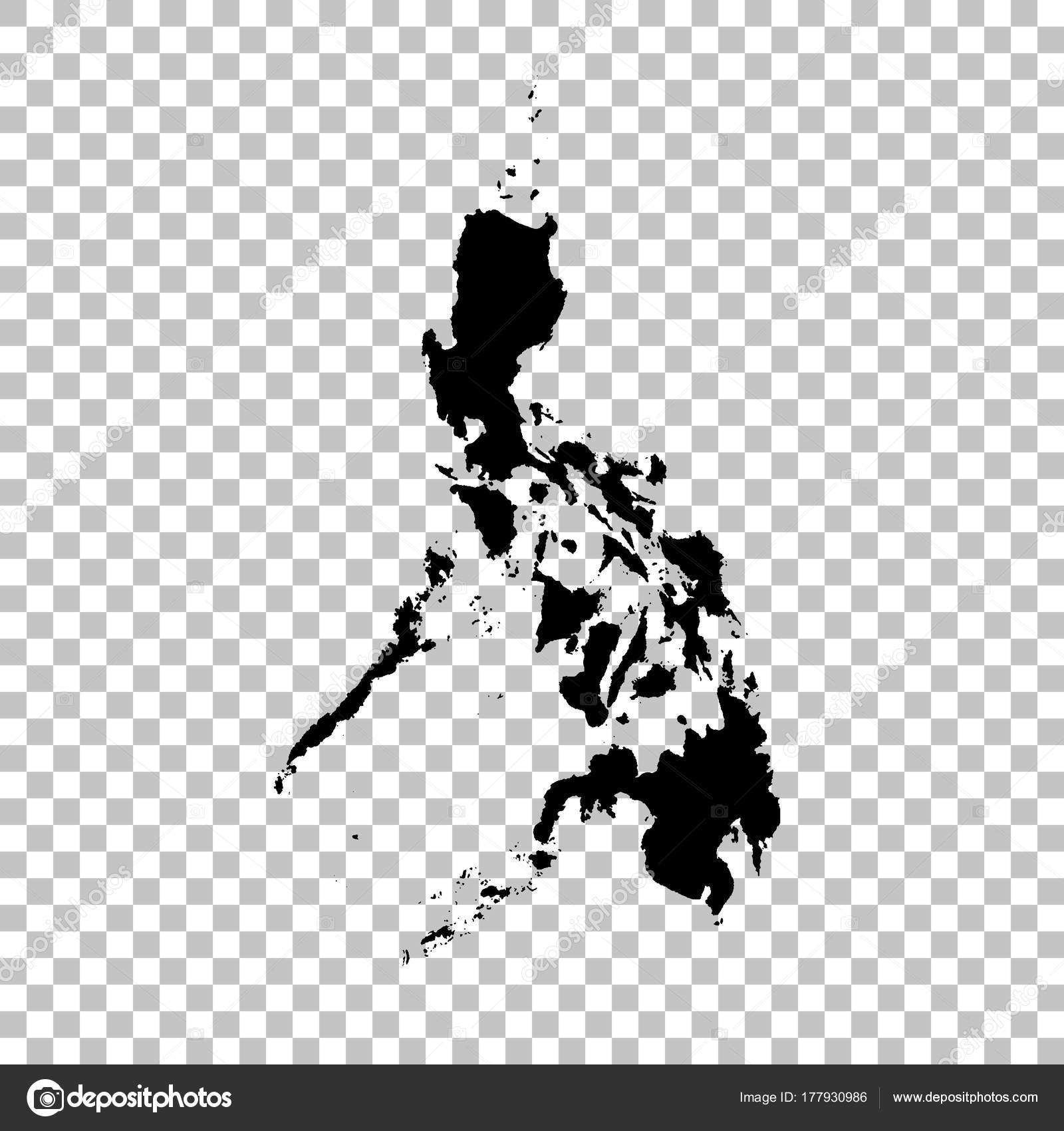 Philippines Map Black And White.Vector Map Philippines Isolated Vector Illustration Black White