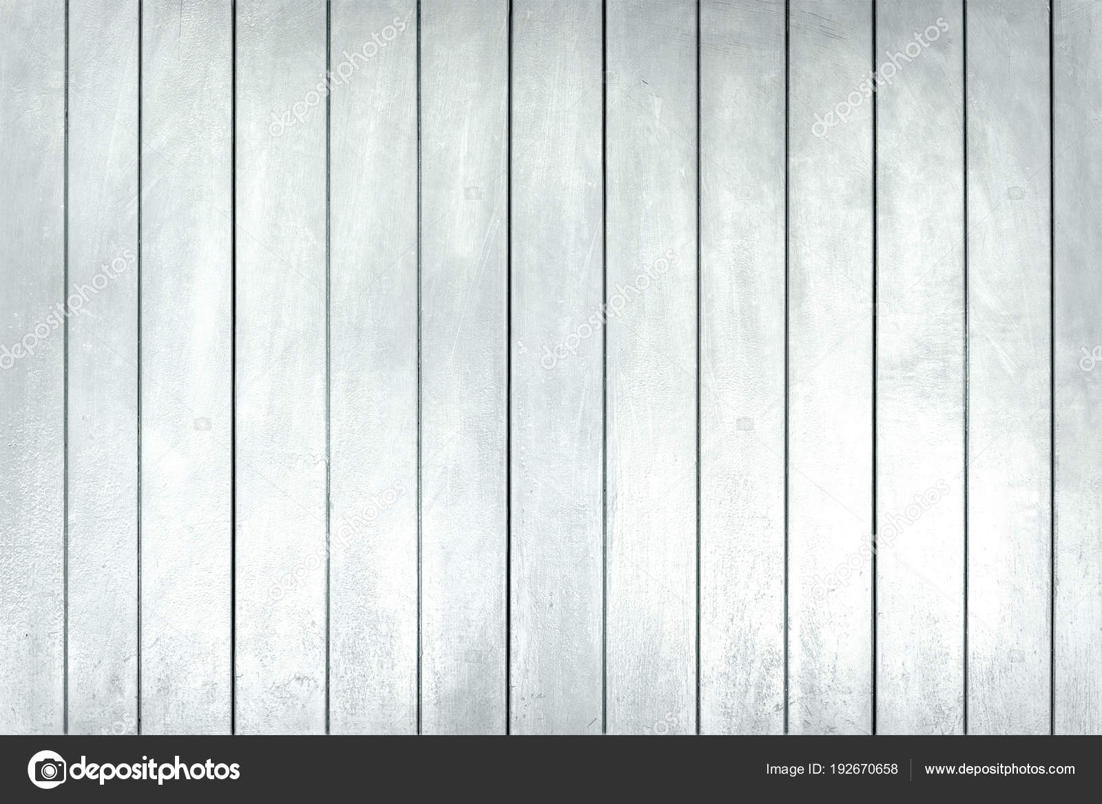 White Washed Wooden Planks Vintage Wood Wall Stock Photo