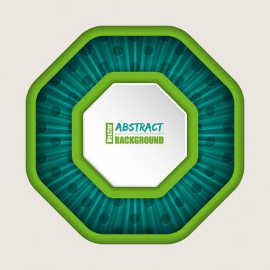 Abstract octagon brochure background