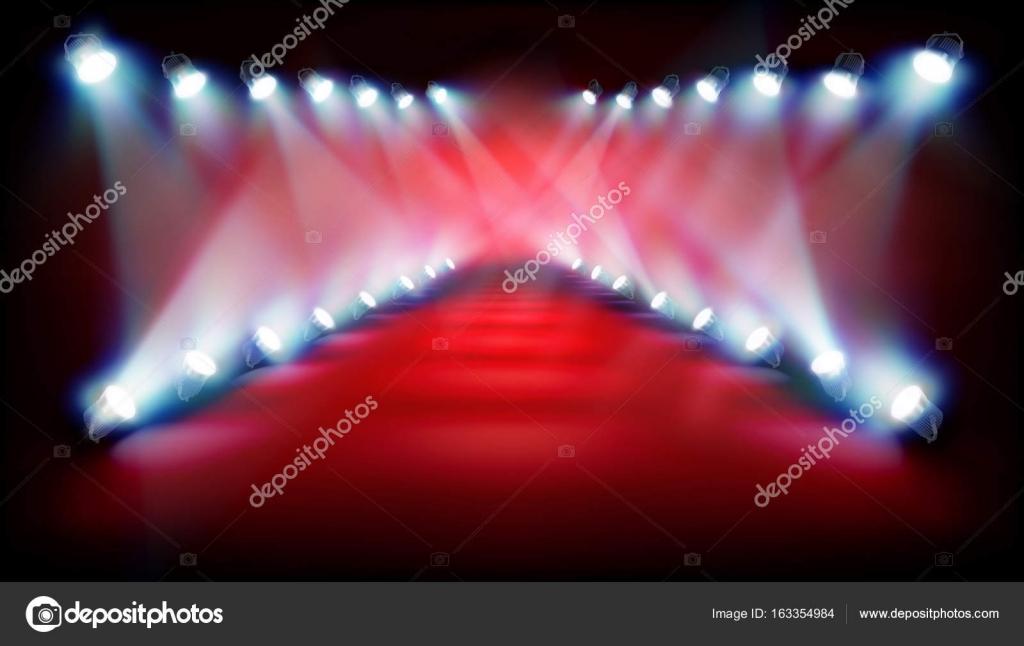 ショーの前に空のステージ。ベクトル図. \u2014 ストックベクター