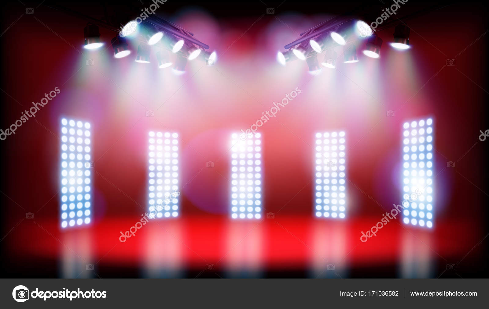 empty stage before the show vector illustration stock vector