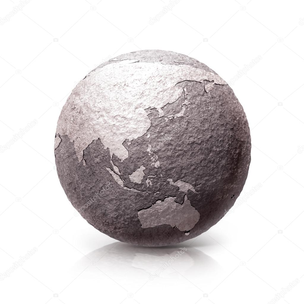 Old stone asia australia world map 3d illustration stock photo old stone asia australia world map 3d illustration on white background photo by 7crafts gumiabroncs Gallery