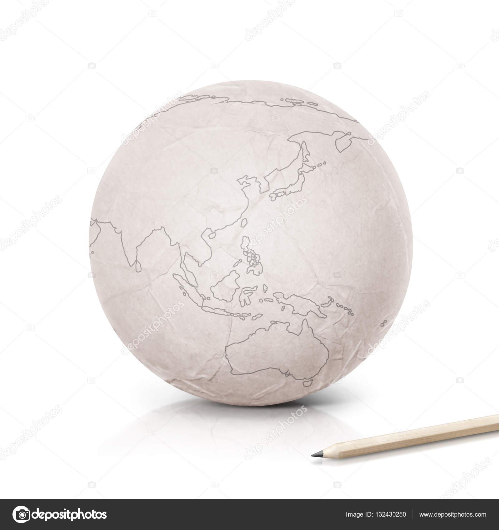 Stroke Asia & Australia map on paper globe — Stock Photo ... on map of china, map of japan, map of australasia, map of astrailia, island of south australia, map of iran and saudi arabia, united states map and australia, map of australia with cities, world map australia, map of africa, map of sydney australia, map of melbourne australia, map asia pacific rim, map of australia climate regions, world with japan and australia, map of australia for teens, map of india, south africa and australia, a map of australia, time in rockhampton australia,
