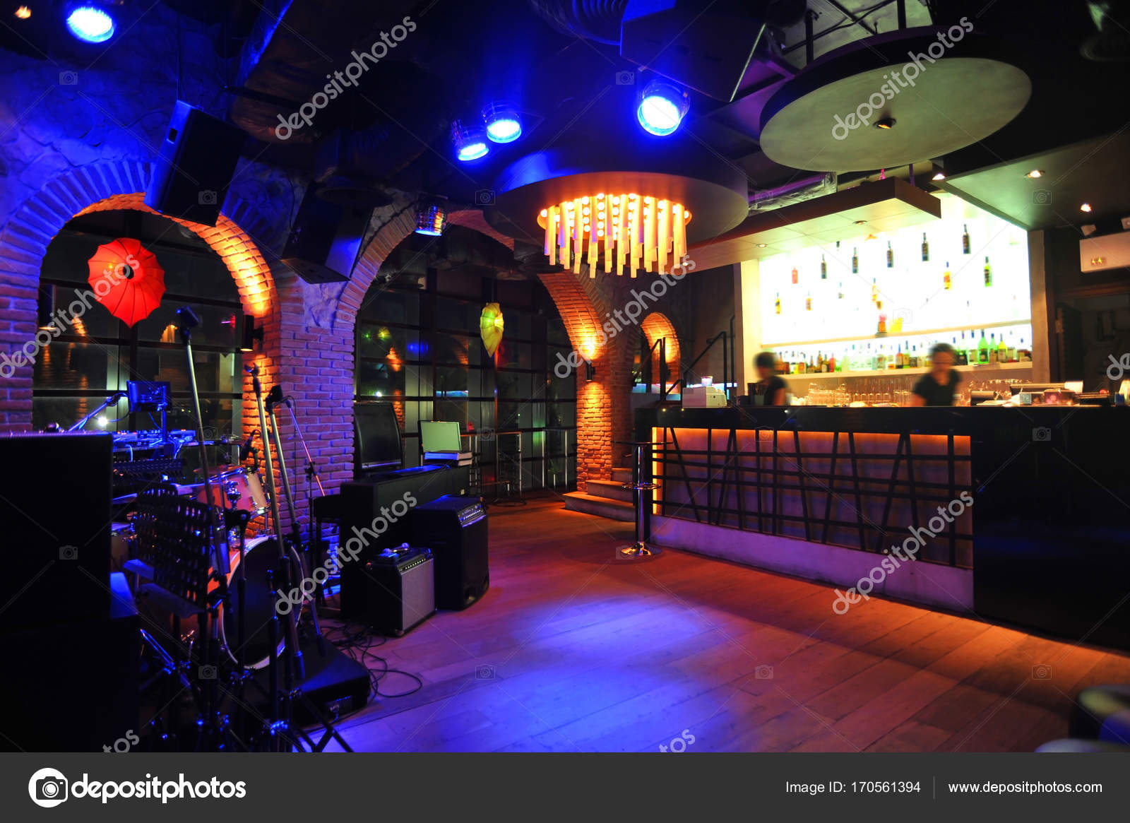 Loft Bar Dekoration Stil — Stockfoto © 7Crafts #170561394