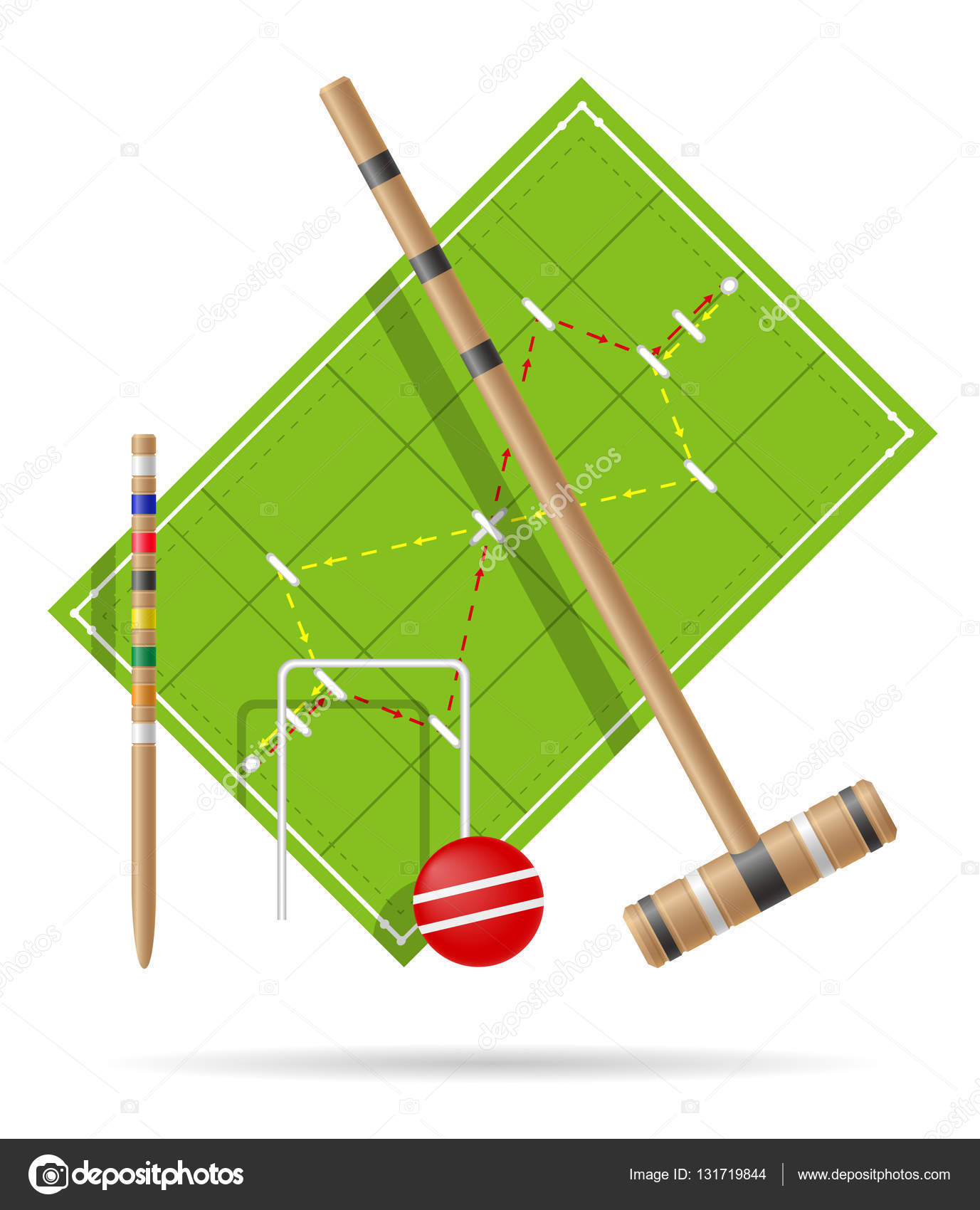 Playground for croquet vector illustration stock vector kontur playground for croquet vector illustration stock vector pooptronica Image collections
