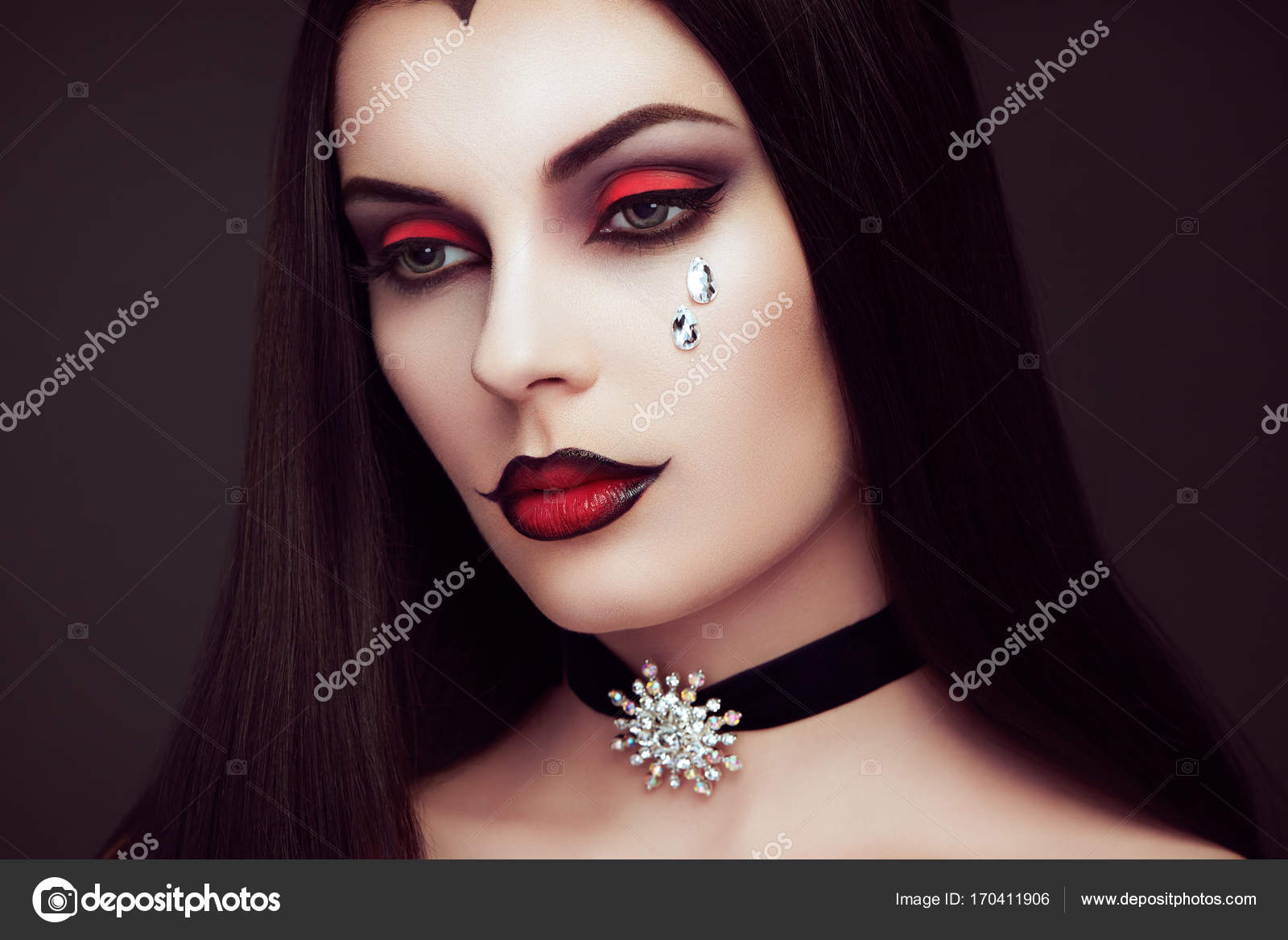 portrait de femme vampire halloween photographie. Black Bedroom Furniture Sets. Home Design Ideas
