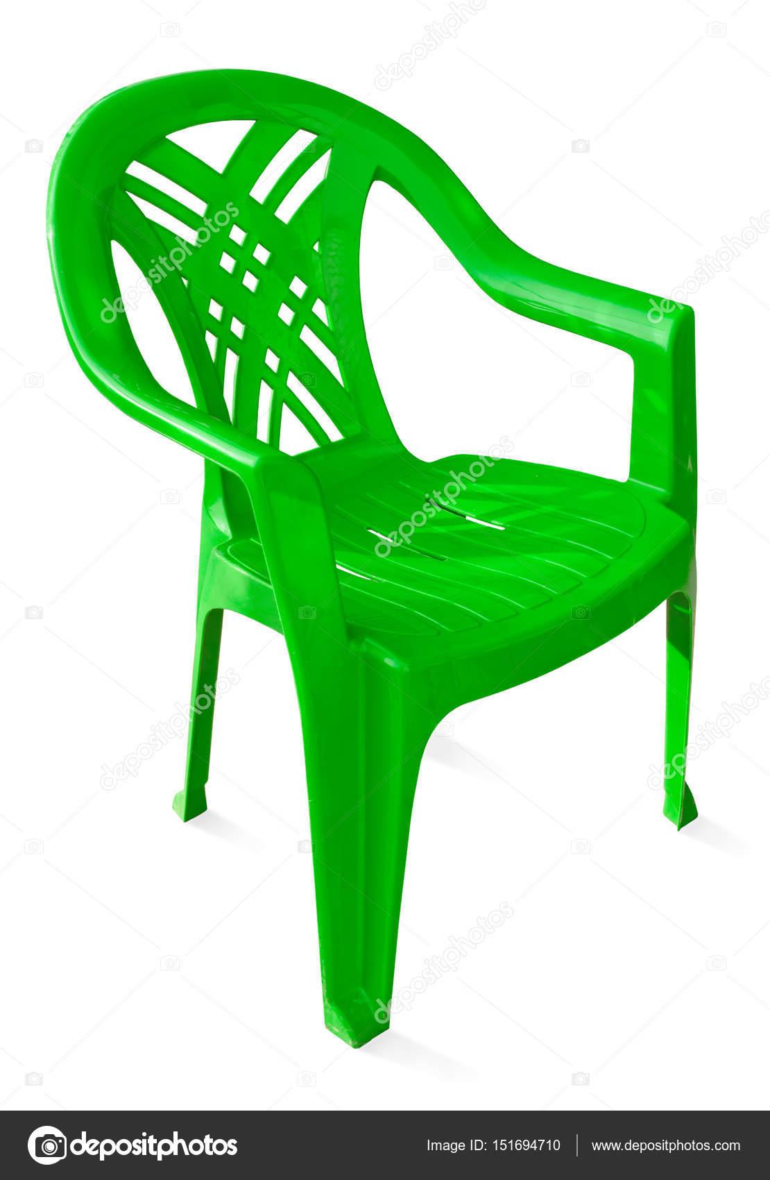 Plastikowe Krzesło Zielony Zdjęcie Stockowe Sever180