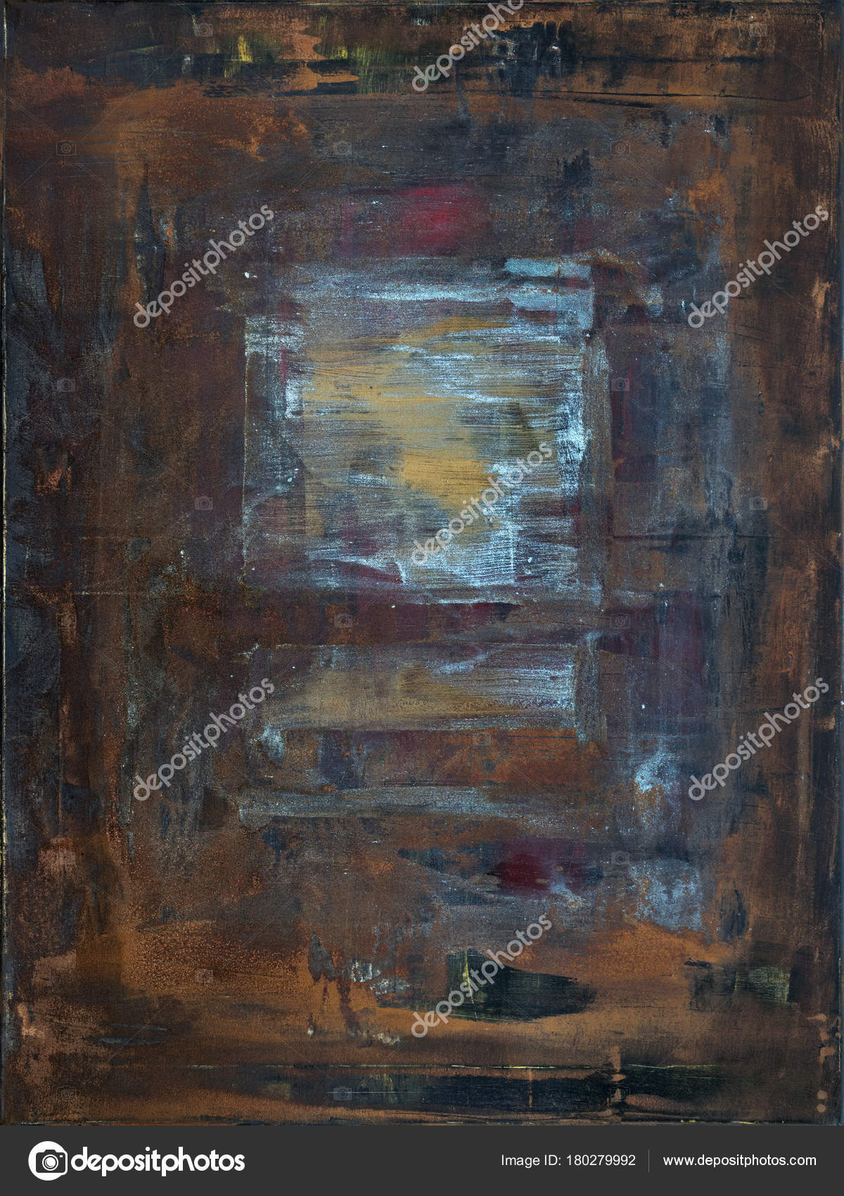 rostige abstrakte Kunst auf Leinwand — Stockfoto © magann #180279992
