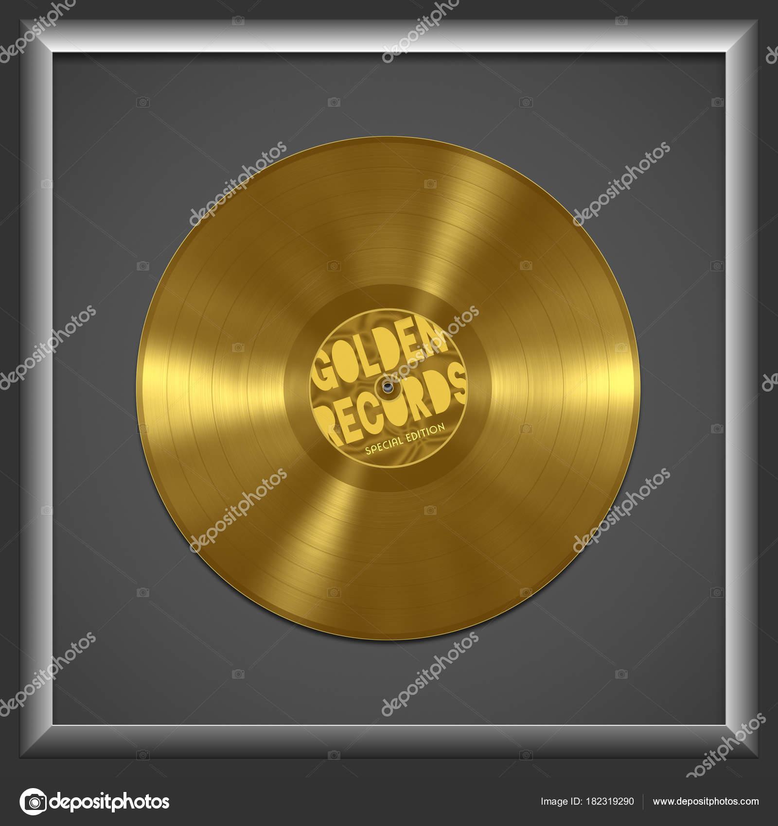 disco de vinilo oro — Fotos de Stock © magann #182319290