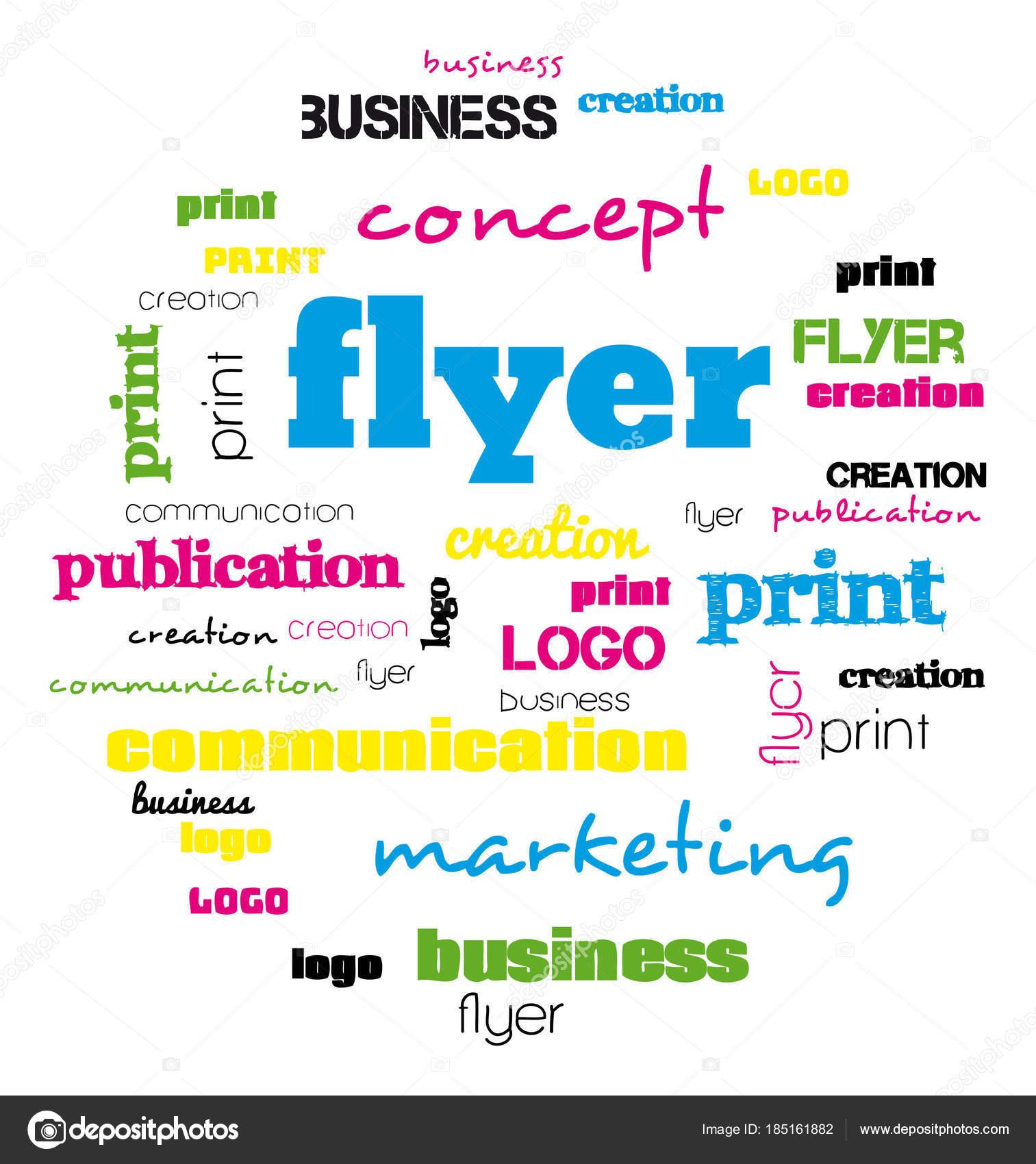 Beispiel Für Eine Tagcloud Wort Für Flyer Und Logo Design ...