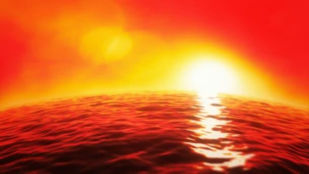 Sea sunset background seamless loop