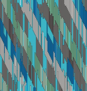 Abstract diagonal ornament of strokes