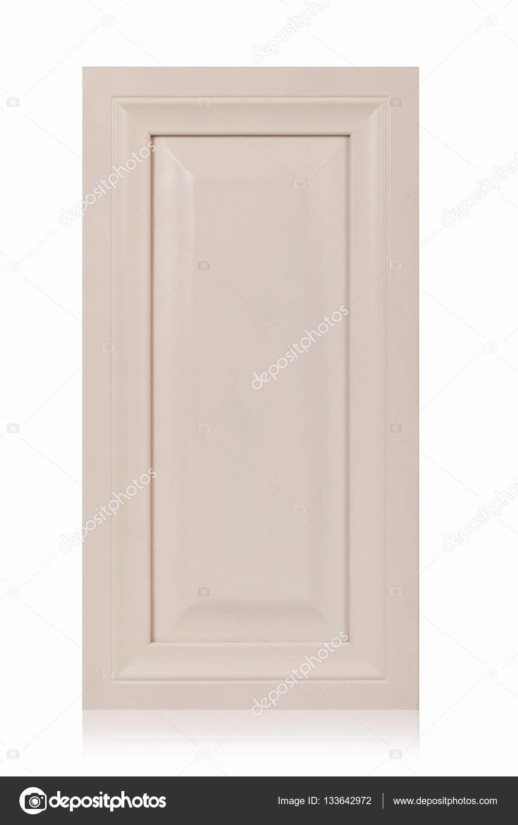 Puerta de gabinete de marco de madera aislada en blanco — Foto de ...