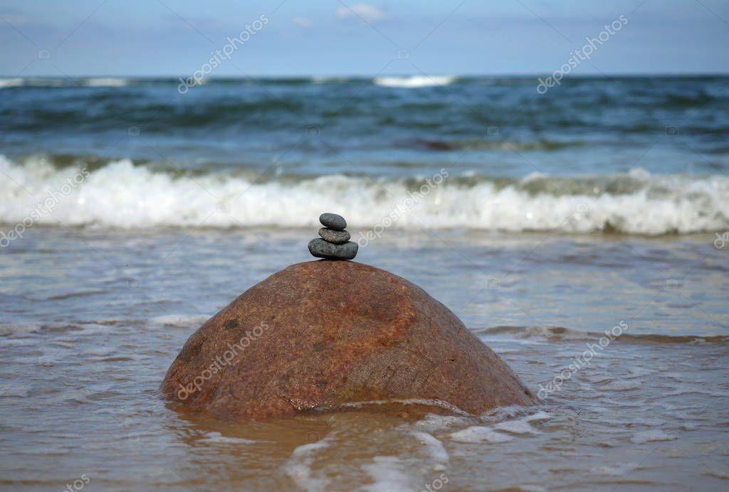 stones on sea background
