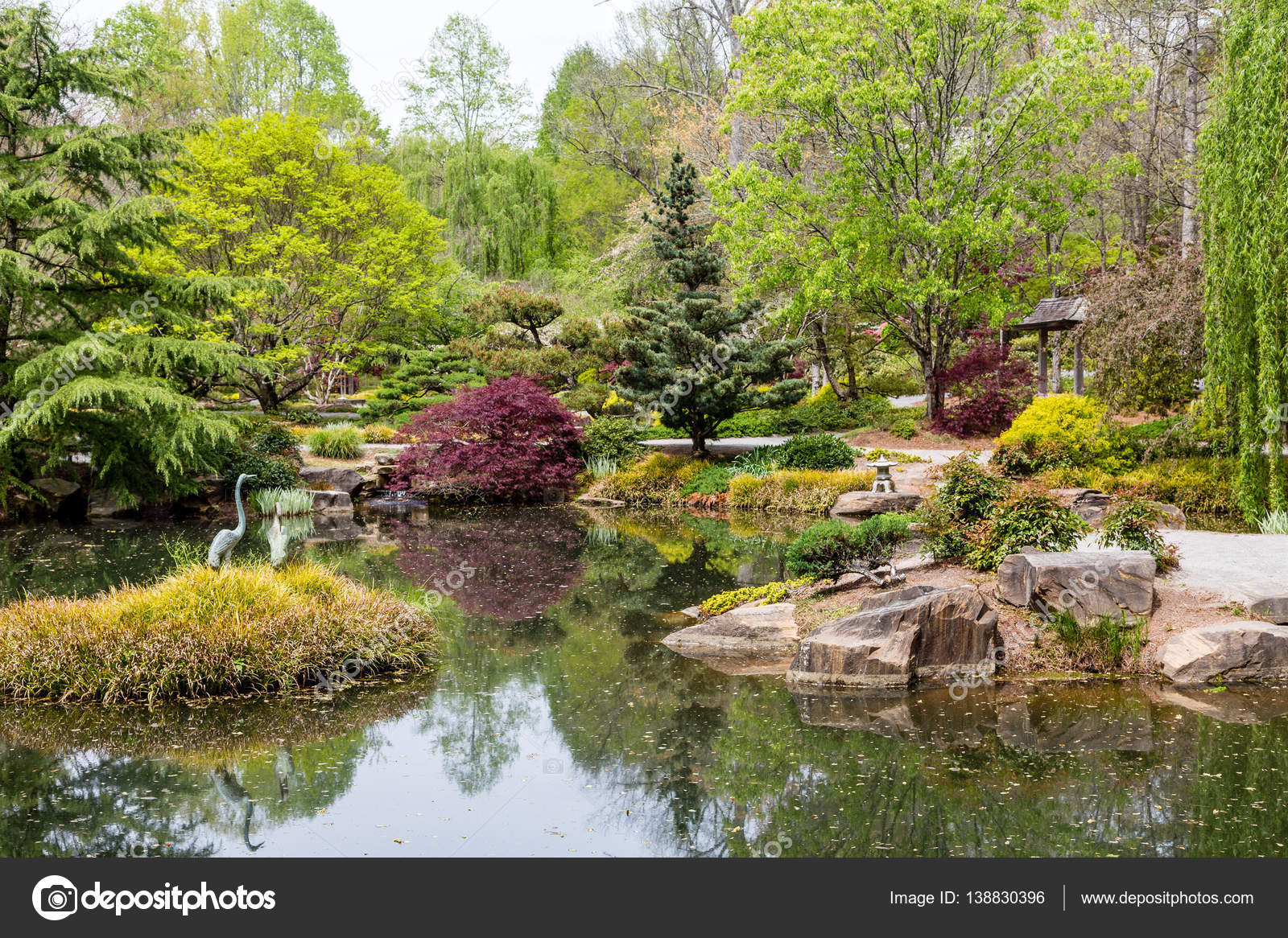Exceptional Stone Decorations In Japanese Garden U2014 Stock Photo
