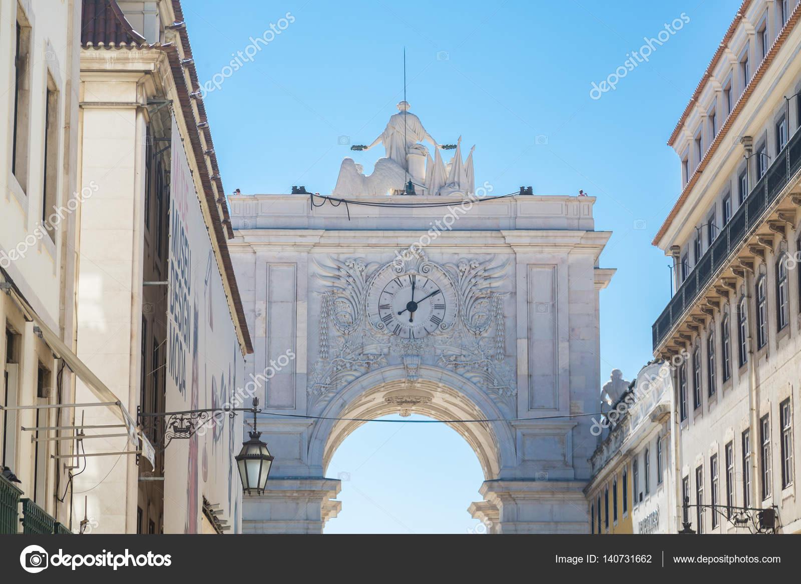 — Dbvirago140731662 Arco De Stock Lisboa © En Foto Reloj qpGMSzjLUV