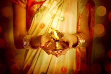 Celebrating Diwali, Diya light