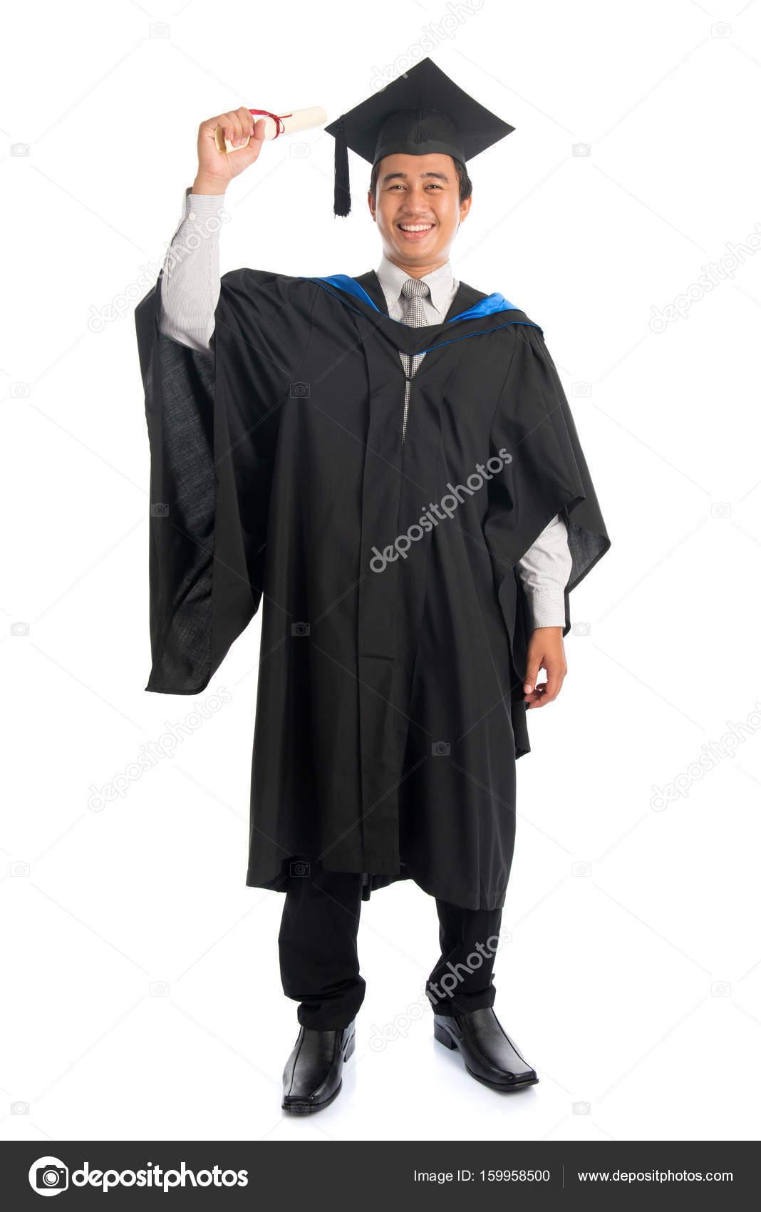 Full length university student graduation — Stock Photo © szefei ...