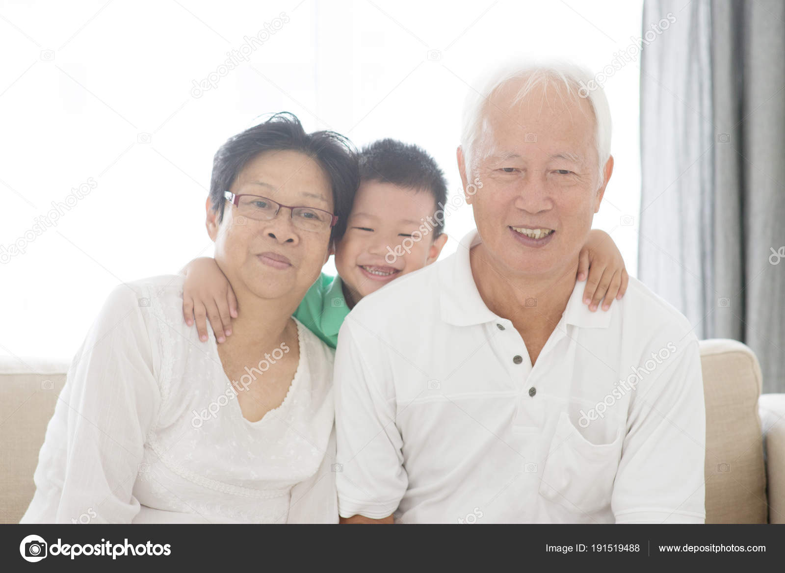 asian grandparents and grandchild stock photo szefei 191519488