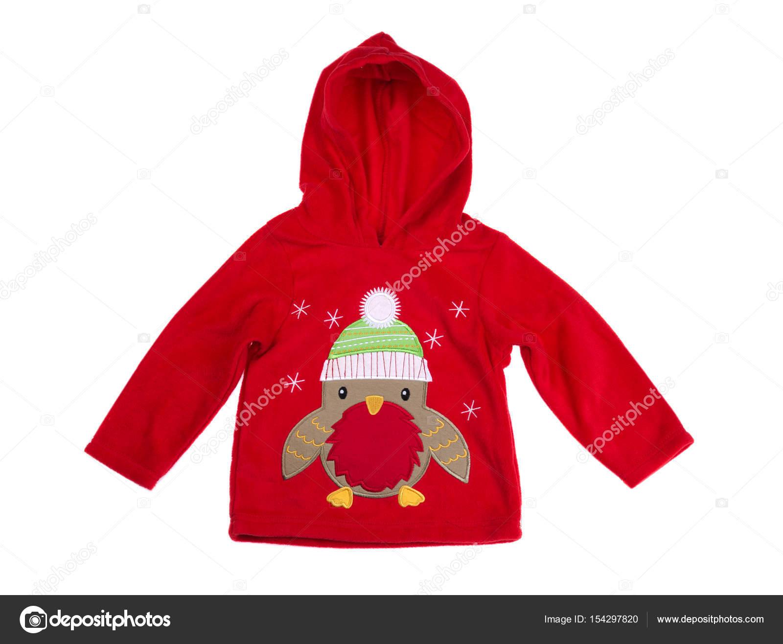 Sweats à capuche rouge enfants, studio — Photographie Ruslan