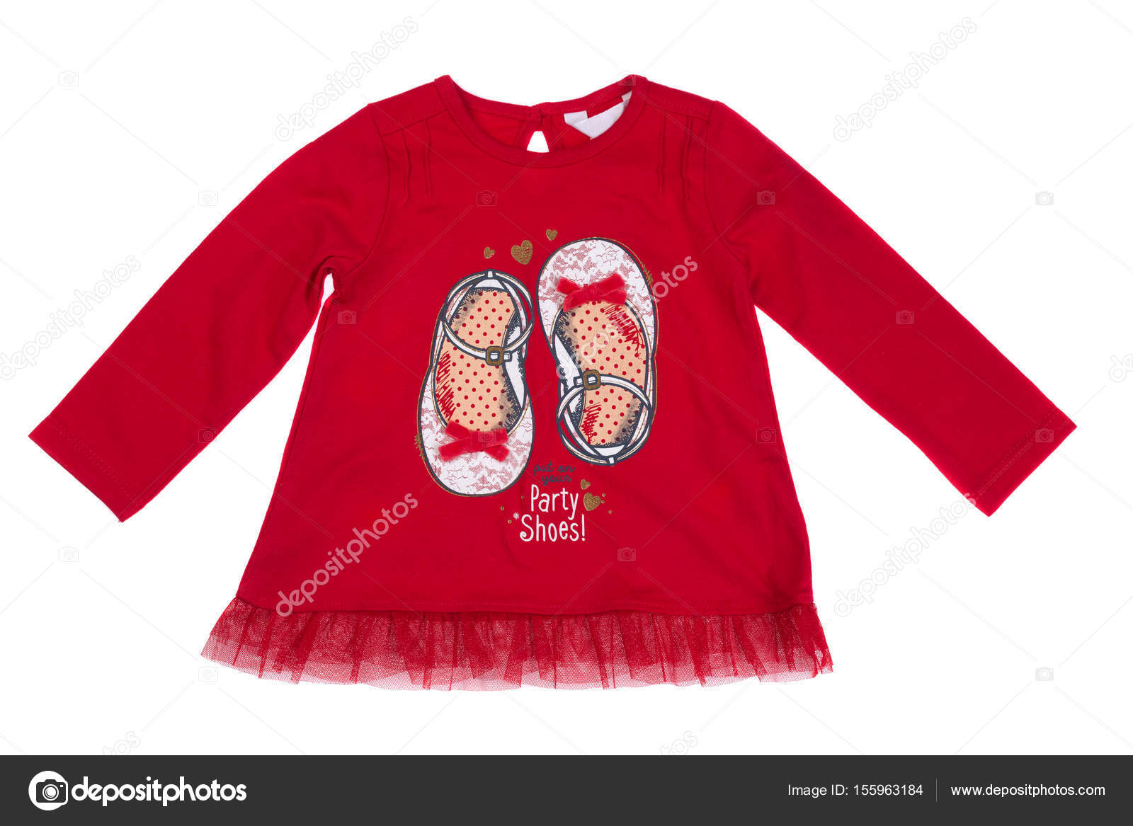 Chemise rouge enfants, isolat — Photographie Ruslan © #155963184
