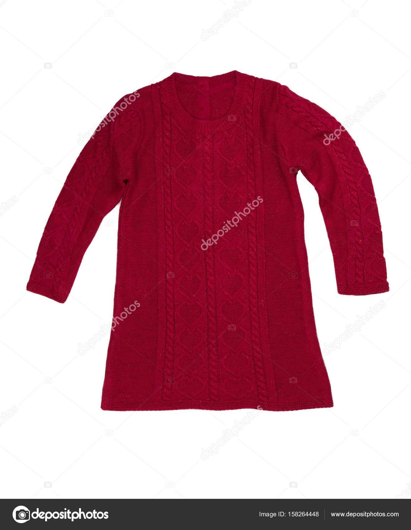 004ff98d0f7e Κόκκινο πλεκτό φόρεμα