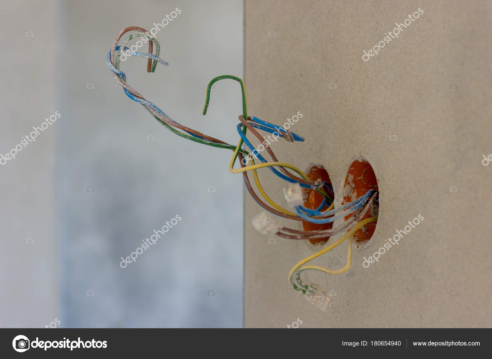 Fabulous Electric Socket Colorful Wires New House Interior Construction Wiring Digital Resources Funapmognl