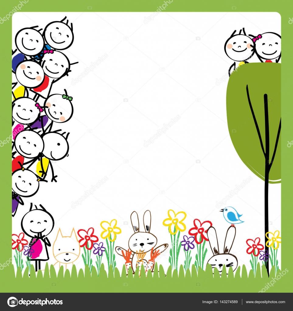 Cornice Di Bambini Colorati Vettoriali Stock Justaa 143274589