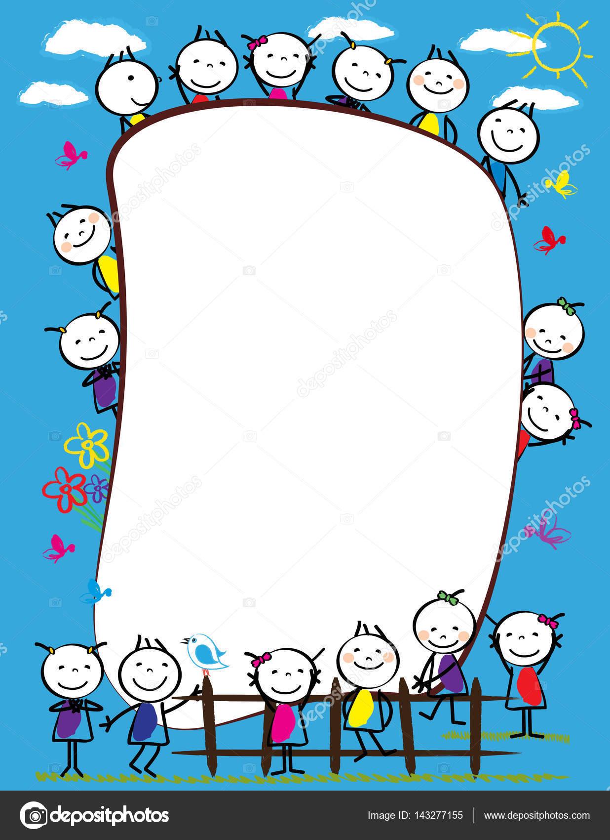 Cornice Di Bambini Colorati Vettoriali Stock Justaa 143277155