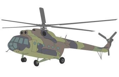 Mi-8 helicopter illustration