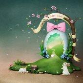 Fotografie Plakat mit Fantasie Osterei