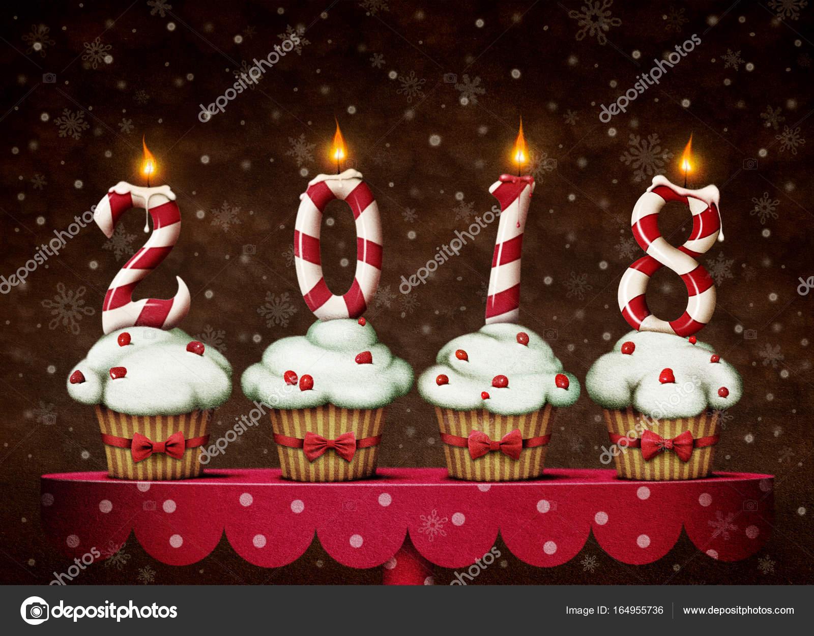 Velas De Ano Nuevo Caramelo Pastel Foto De Stock C Annmei 164955736