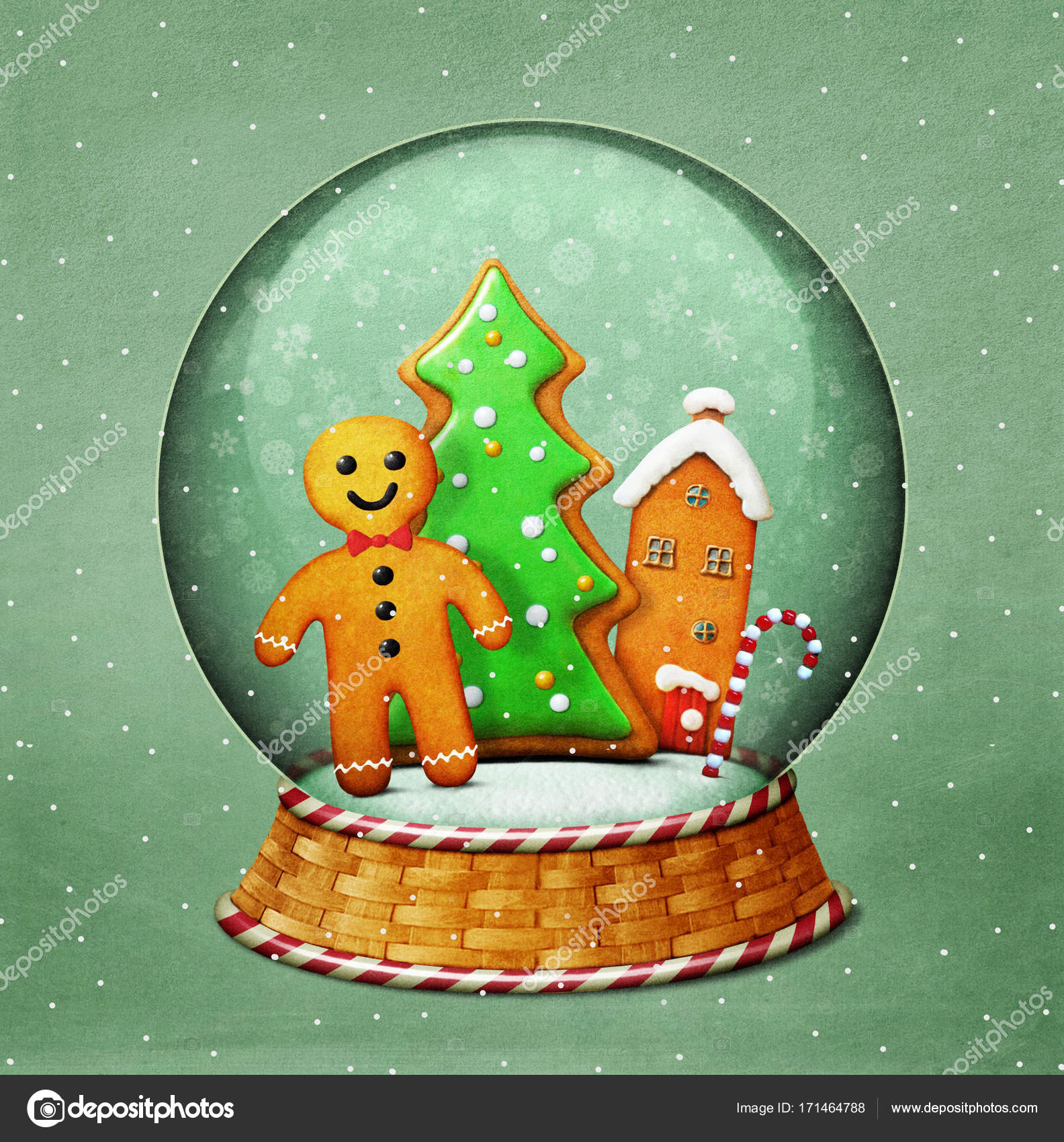 Snow Globe And Gingerbread Christmas Cookie Stock Photo C Annmei