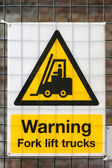 Photo Forklift Warning Sign