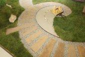 Spiral-Zen-Garten