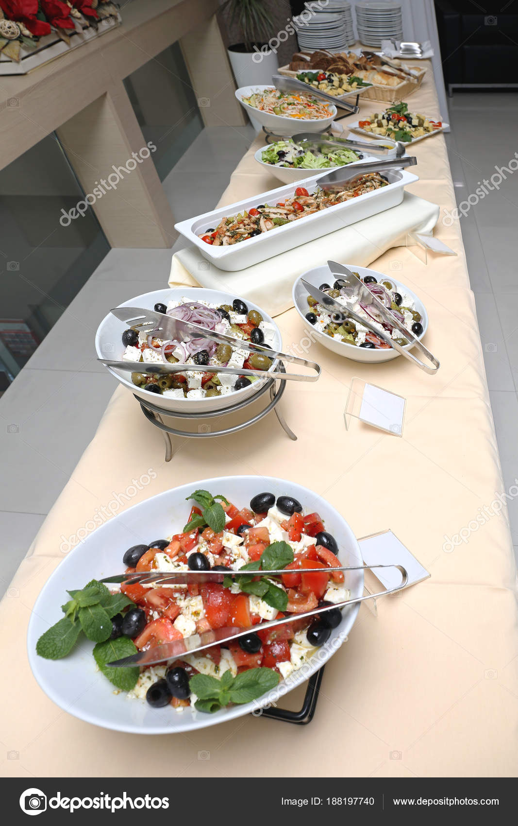 Picture of: Long Buffet Table Stock Photo C Baloncici 188197740